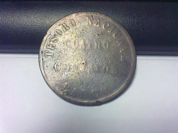 Moneda Confederación 4 Centavos 1854