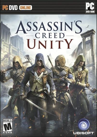 Jogo Novo Lacrado Assassins Creed Unity Para Pc