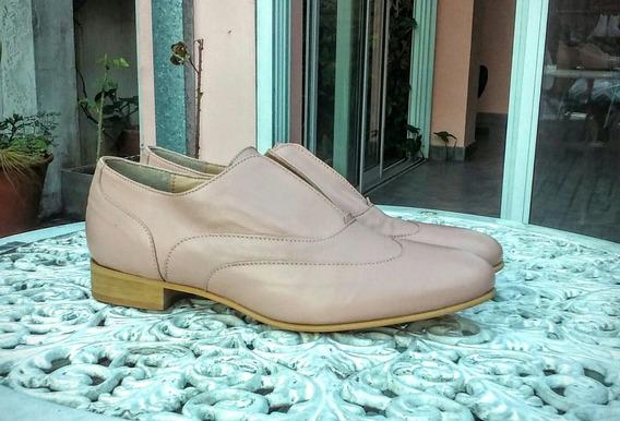 Zapatos Mocasines Verano Nro 40 De Cuero, Traidos De Italia