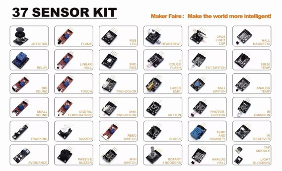 Kit Com 37 Modulos E Sensores Para Arduino E Raspberry