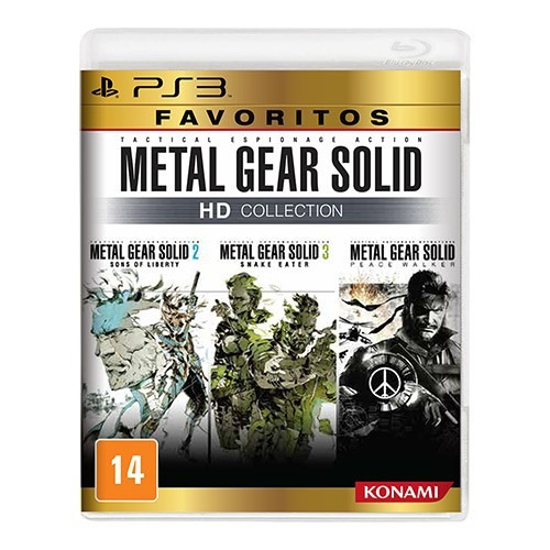 Jogo Metal Gear Solid Hd Collection Para Playstation 3 Ps3