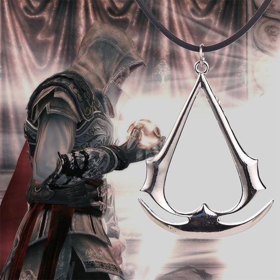 Colar Corrente Assassins Creed Guilda Assassinos Prateado