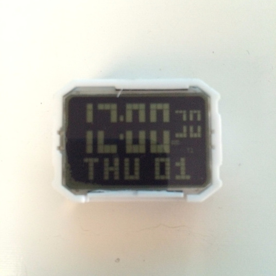 Caixa Do Relógio Nike Hammer Funcionando So 1 Linha Apagada