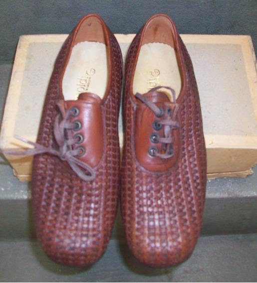 Zapato Trenzado Color Marrón Nuevo Sin Uso Para Caballeros