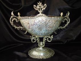 Belíssima Bombonière Art Noveau Em Bronze/prata.frança,19 Th