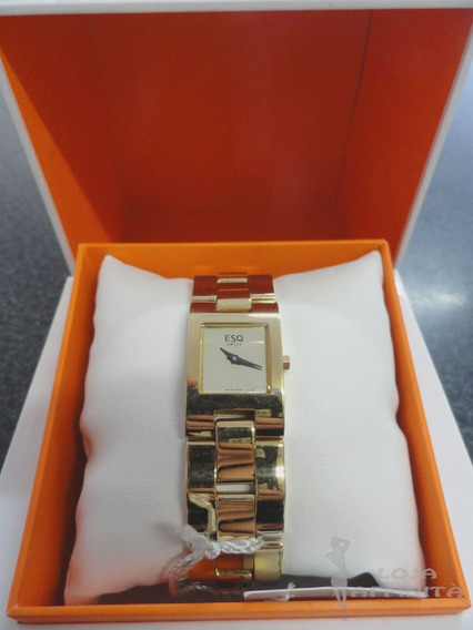 Relógio Suíço Feminino Movado Esq Fresco 07100681 Aço Inox