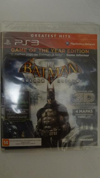 Batman Arkham Asylum Ps3 Novo E Lacrado
