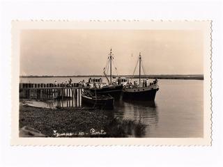 Cartao Postal Fotografico Barcos No Porto Iguape Sp Anos 50