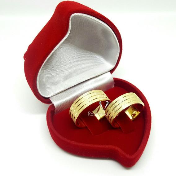 Par De Alianças Casamento Noivado Ouro Maciço 18k-750