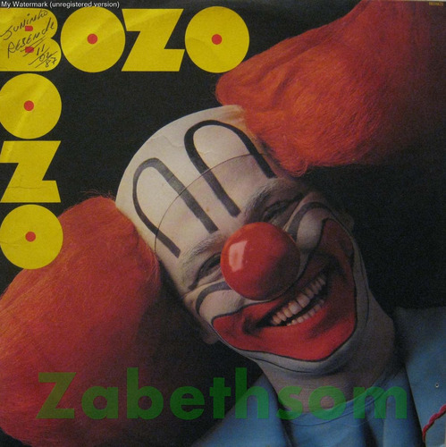 Bozo Bozo - A Banda Do Bozo - Lp Rca 1986