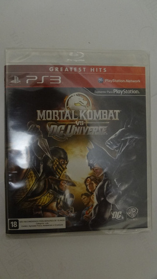 Mortal Kombat Vs Dc Universe Para Ps3 Novo E Lacrado