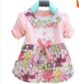 Vestido Manga Longa Floral Algodão Infantil Pronta Entrega