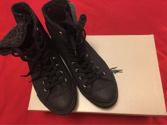 Zapatillas Botitas Negras Mujer Lacoste Talle Usa 9 Divinas!
