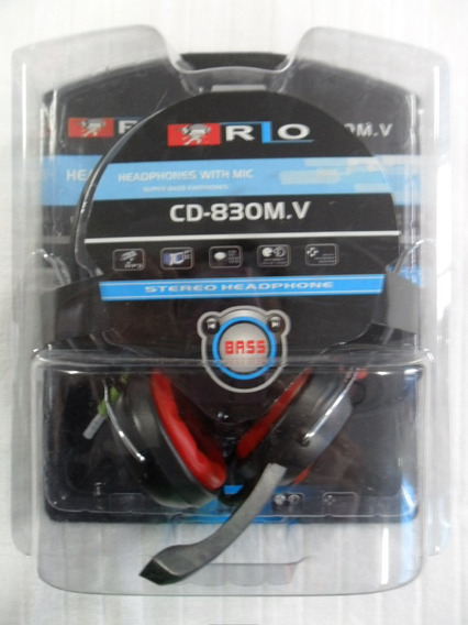 Headphone Estéreo Com Microfone Cd 830 Em Oferta