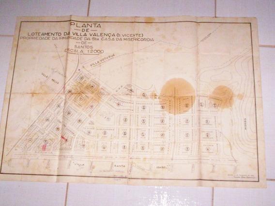 Planta Loteamento Santa Casa Santos 1940