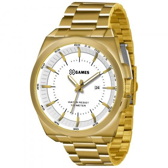 Relógio Xgames Xmgs1013 B1kx Masculino Aço Dourado- Refinado