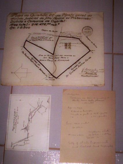Mapa Do Quinhão Sitio Mooca Sp 1944