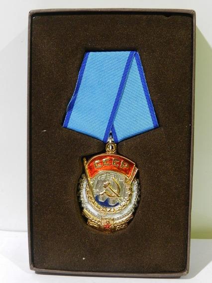 Medalla Condecoracion Orden De La Bandera Roja Del Trabajo /