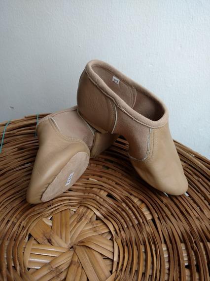 Zapato De Jazz #3 Color Camell O Nude De Piel