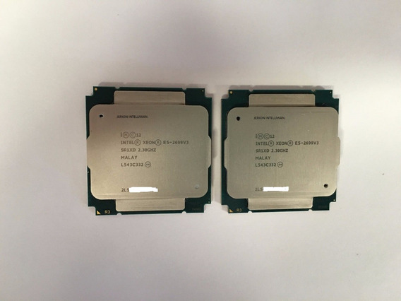 Intel ® Xeon ® Processor E5-2699 V3 (45mb Cache, 2.30 Ghz)