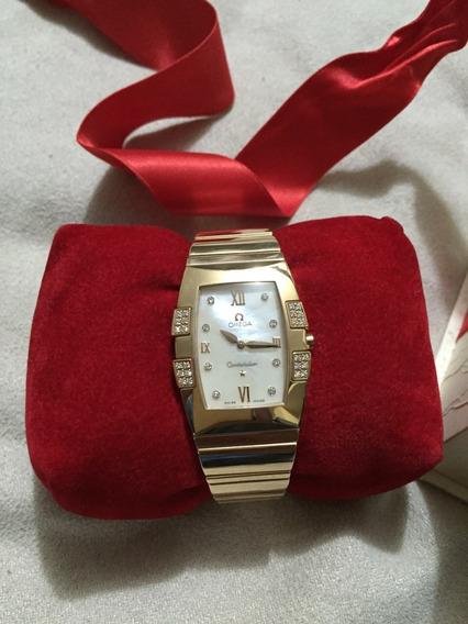 Reloj Omega Constellation Quadrella - Gold Rose