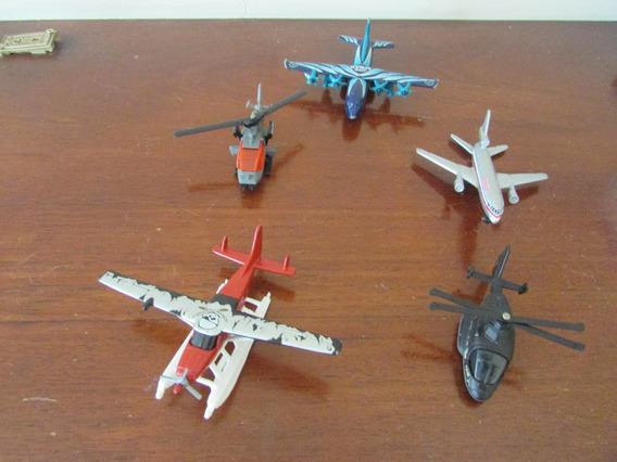 5 Aviões Miniatura Matchbox Diferentes Mattel Lote R$50,00