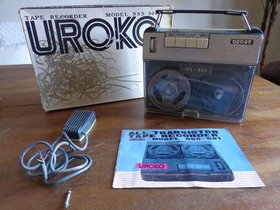 Gravador De Rolos Antigo Oroko Japan Sss 501 Com Microfone