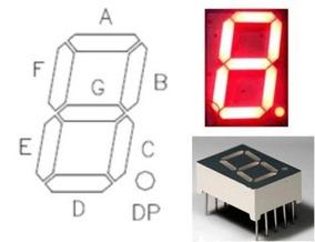 Display De 7 Segmentos Vermelho Pic Arduino