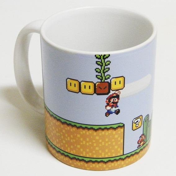 Caneca Super Mario Bros. Nintendo Jogo ~ Suika Games Animes