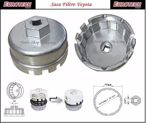 Saca Filtro De Aceite Especial Toyota Eurotech