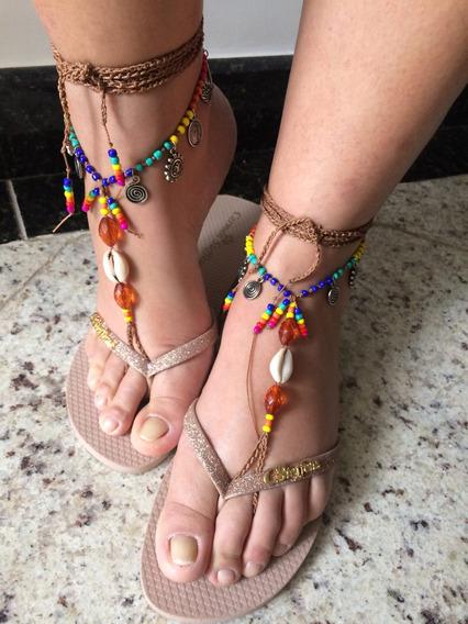 Sandália Pés Descalços Mandala Barefoot Com Búzio - Par