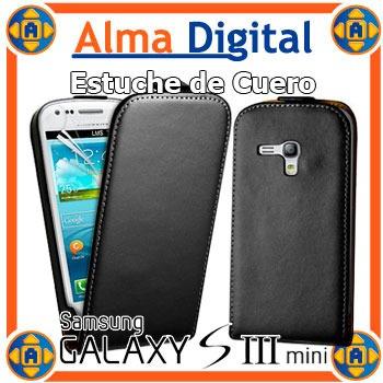 Estuche Cuero Samsung S3 Mini Funda Protector Forro I8190