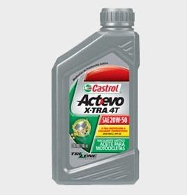 Aceite Castrol Actevo X-tra 4t 20w-50 Semi Sintetico Nuevo!