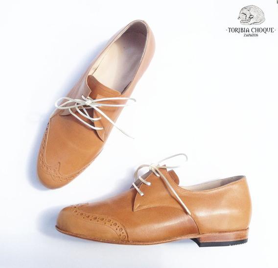 Abotinados Zapatos Cuero Cabritilla Suela Toribia Choque