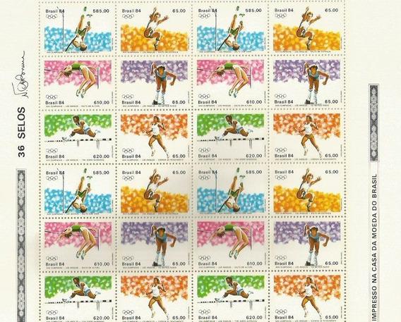 1984 - Folha Completa - Mint - C- 1378 A 1383 - Olimpiadas