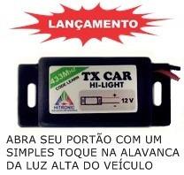 Kit 2 Controle Tx Car Para Portão 433,92 Mhz Code Learn