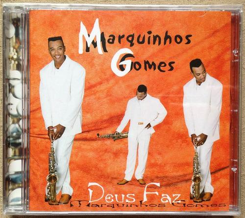 Cd Marquinhos Gomes Deus Faz 2001 Lacrado Original Raridade