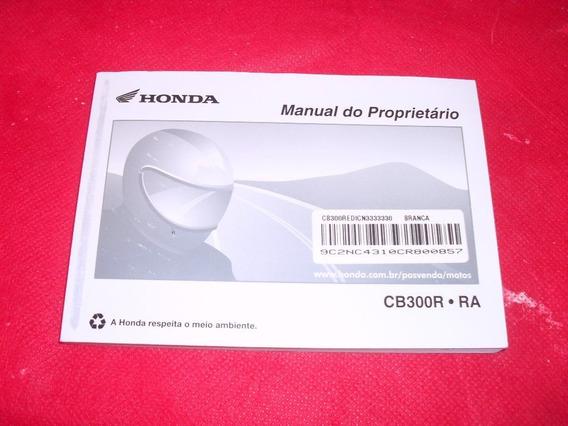 Moto Honda Cb 300 R Manual Do Proprietario Original