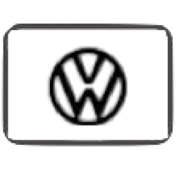 Protetor Fechadura Volkswagen Resinado Prata 2 Unidades