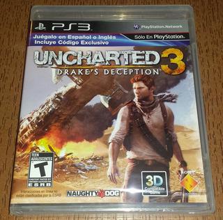Uncharted 3 Nuevo Y Sellado Ps3
