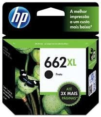 Cartucho De Tinta Hp 662 Xl Cz105ab Preto - Original 14ml