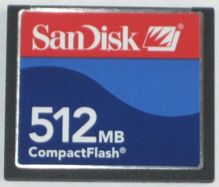 Memoria Compact Flash Sandisk 512mb Original