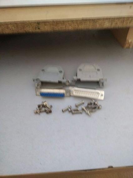 Conector Hembra Macho Con Tapa Recic. Db25