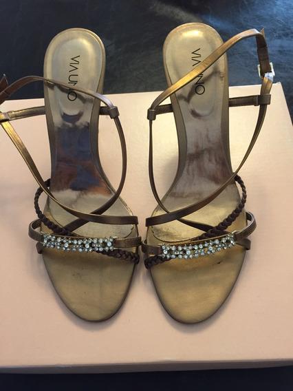 Sandalias Cobre Divinas, Impecables !!! Vía Uno