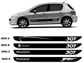 Kit Adesivo Faixa Lateral Peugeot 307 E Sw