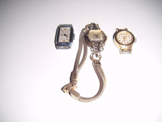Paquete De 3 Relojes Antiguos Años 60s Para Dama