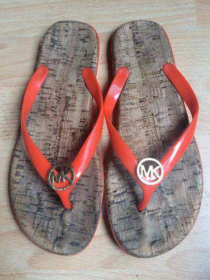 Padrisimos Zapatos Sandalias Michael Kors Mk Naranjas Corcho