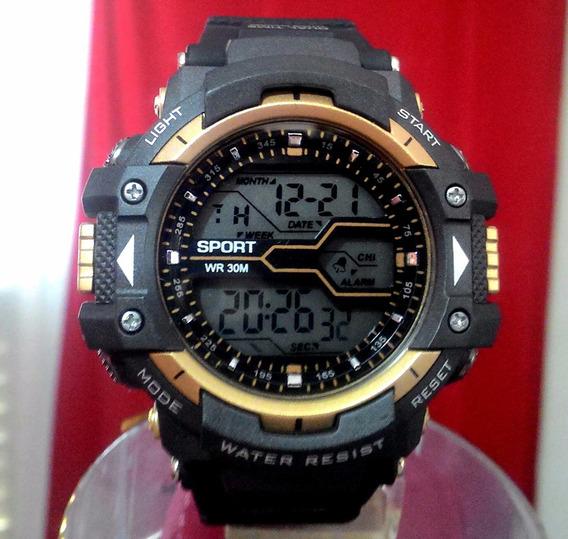 Relógio Masculino Militar Anti Shock Digital Esportivo Wr30m