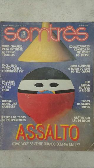 Revista Somtrês Som Três Nº 79 Frete Grátis Raro