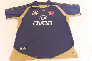 Camisa Fenerbahce #3 Roberto Carlos Away 2004-05 adidas Rara